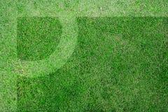 ποδόσφαιρο πεδίων γωνιών Στοκ Φωτογραφία