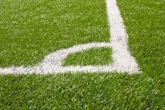 ποδόσφαιρο πεδίων γωνιών Στοκ φωτογραφίες με δικαίωμα ελεύθερης χρήσης