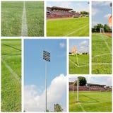 ποδόσφαιρο πεδίων κολάζ Στοκ Εικόνες