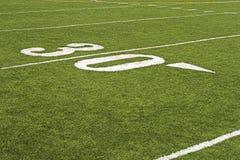 ποδόσφαιρο πεδίων λεπτο& Στοκ Εικόνες