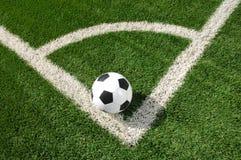 ποδόσφαιρο πεδίων σφαιρών Στοκ Εικόνες
