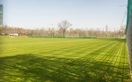 ποδόσφαιρο πεδίων σχεδίου εσείς Στοκ φωτογραφία με δικαίωμα ελεύθερης χρήσης