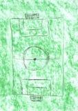 ποδόσφαιρο πεδίων Στοκ φωτογραφίες με δικαίωμα ελεύθερης χρήσης
