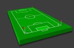ποδόσφαιρο πεδίων Απεικόνιση αποθεμάτων