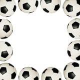 ποδόσφαιρο πλαισίων σφαιρών Στοκ εικόνες με δικαίωμα ελεύθερης χρήσης