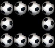 ποδόσφαιρο πλαισίων σφα&iota Στοκ εικόνα με δικαίωμα ελεύθερης χρήσης
