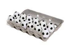 ποδόσφαιρο ποδοσφαίρου αυγών Στοκ εικόνες με δικαίωμα ελεύθερης χρήσης