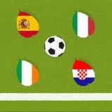 ποδόσφαιρο ποδοσφαίρου σημαιών απεικόνιση αποθεμάτων