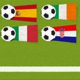 Ποδόσφαιρο ποδοσφαίρου σημαιών Plasticine στοκ φωτογραφίες με δικαίωμα ελεύθερης χρήσης