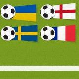 Ποδόσφαιρο ποδοσφαίρου σημαιών Plasticine στοκ φωτογραφία με δικαίωμα ελεύθερης χρήσης