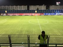 Ποδόσφαιρο ποδοσφαίρου της Ταϊλάνδης Στοκ φωτογραφία με δικαίωμα ελεύθερης χρήσης