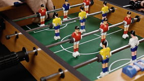 Ποδόσφαιρο που ψαρεύεται επιτραπέζιο απόθεμα βίντεο