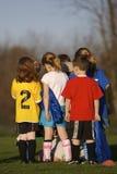 ποδόσφαιρο πρακτικής στοκ εικόνες