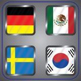Ποδόσφαιρο πρωτάθλημα Διανυσματικές σημαίες Ρωσία ομάδα Φ απεικόνιση αποθεμάτων