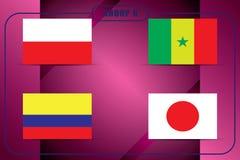 Ποδόσφαιρο πρωτάθλημα Διανυσματικές σημαίες Ρωσία Realistic Football ομάδας Χ Στοκ εικόνες με δικαίωμα ελεύθερης χρήσης