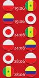 Ποδόσφαιρο πρωτάθλημα Διανυσματικές σημαίες Realistic Football ομάδας Χ Στοκ εικόνα με δικαίωμα ελεύθερης χρήσης