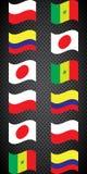 Ποδόσφαιρο πρωτάθλημα Διανυσματικές σημαίες Realistic Football ομάδας Χ Στοκ εικόνες με δικαίωμα ελεύθερης χρήσης
