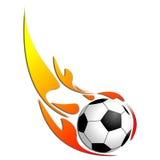 ποδόσφαιρο πυρκαγιάς σφαιρών Στοκ εικόνες με δικαίωμα ελεύθερης χρήσης
