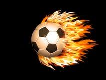 ποδόσφαιρο πυρκαγιάς σφ&a απεικόνιση αποθεμάτων