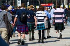 ποδόσφαιρο Ρώμη σκωτσέζικα ανεμιστήρων Στοκ φωτογραφία με δικαίωμα ελεύθερης χρήσης