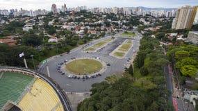 Ποδόσφαιρο σε όλο τον κόσμο, στάδιο Σάο Πάολο Βραζιλία Pacaembu στοκ εικόνες με δικαίωμα ελεύθερης χρήσης