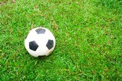 Ποδόσφαιρο σε grass.2 Στοκ εικόνα με δικαίωμα ελεύθερης χρήσης