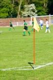 ποδόσφαιρο σημαιών πεδίων Στοκ φωτογραφία με δικαίωμα ελεύθερης χρήσης