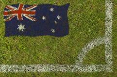 ποδόσφαιρο σημαιών στοκ εικόνες
