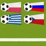 Ποδόσφαιρο σημαιών Plasticine στοκ εικόνες