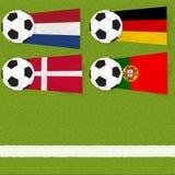 Ποδόσφαιρο σημαιών Plasticine στοκ φωτογραφία με δικαίωμα ελεύθερης χρήσης