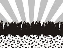 ποδόσφαιρο σκιαγραφιών πυρετού Στοκ Εικόνες