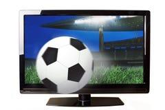 Ποδόσφαιρο στη TV Στοκ εικόνα με δικαίωμα ελεύθερης χρήσης