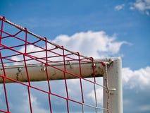 ποδόσφαιρο στόχου γωνιών Στοκ Φωτογραφία