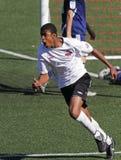 ποδόσφαιρο στόχου εορτ&alp στοκ εικόνες