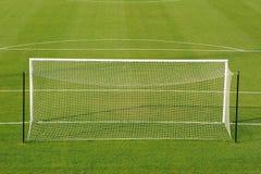 ποδόσφαιρο στόχου πεδίων Στοκ εικόνες με δικαίωμα ελεύθερης χρήσης