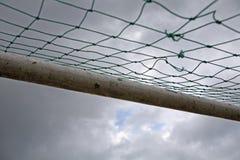 ποδόσφαιρο στόχου Στοκ Φωτογραφία