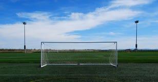 ποδόσφαιρο στόχου Στοκ Εικόνα