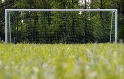 ποδόσφαιρο στόχου Στοκ Εικόνες