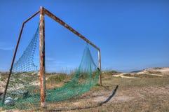 ποδόσφαιρο στόχων Στοκ φωτογραφίες με δικαίωμα ελεύθερης χρήσης