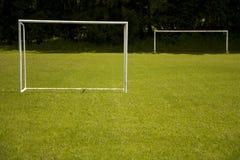 ποδόσφαιρο στόχων Στοκ Φωτογραφίες