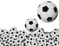 ποδόσφαιρο σφαιρών ανασκόπησης Στοκ Εικόνες
