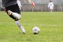 ποδόσφαιρο τερματοφυλακάων Στοκ Φωτογραφίες