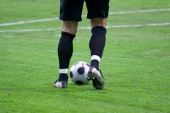 ποδόσφαιρο τερματοφυλ&al Στοκ φωτογραφία με δικαίωμα ελεύθερης χρήσης
