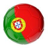 ποδόσφαιρο της Πορτογαλίας σημαιών σφαιρών Απεικόνιση αποθεμάτων
