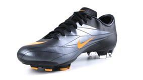 Ποδόσφαιρο της Nike μποτών απόθεμα βίντεο