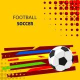 ποδόσφαιρο τρία σχεδίου εμβλημάτων ανασκόπησης εσείς Στοκ Εικόνες