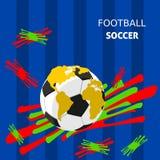 ποδόσφαιρο τρία σχεδίου εμβλημάτων ανασκόπησης εσείς Στοκ Εικόνα