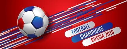 Ποδόσφαιρο υποβάθρου φλυτζανιών παγκόσμιου πρωταθλήματος ποδοσφαίρου 2018, Ρωσία διανυσματική απεικόνιση