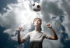 ποδόσφαιρο φορέων κοριτσιών Στοκ εικόνα με δικαίωμα ελεύθερης χρήσης