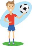 ποδόσφαιρο φορέων Διανυσματική απεικόνιση